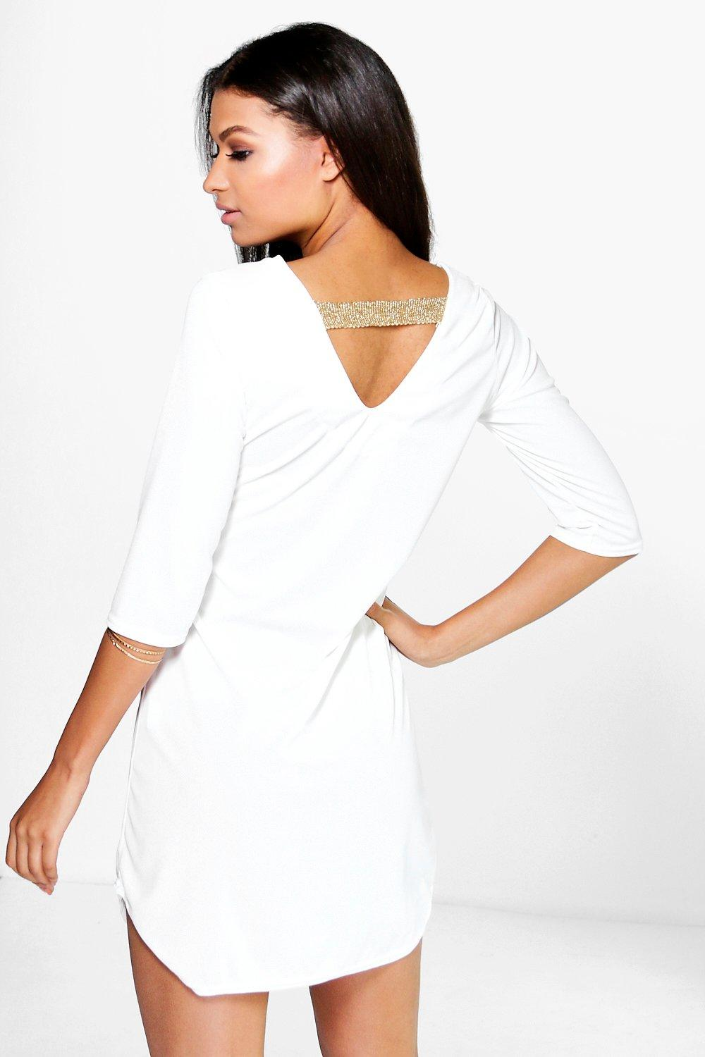 Sophina Metallic Strap Back Dress