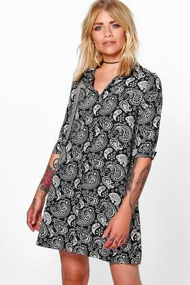 Marissa Paisley Shirt Dress
