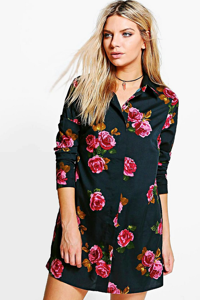 Aisling Large Floral Shirt Dress