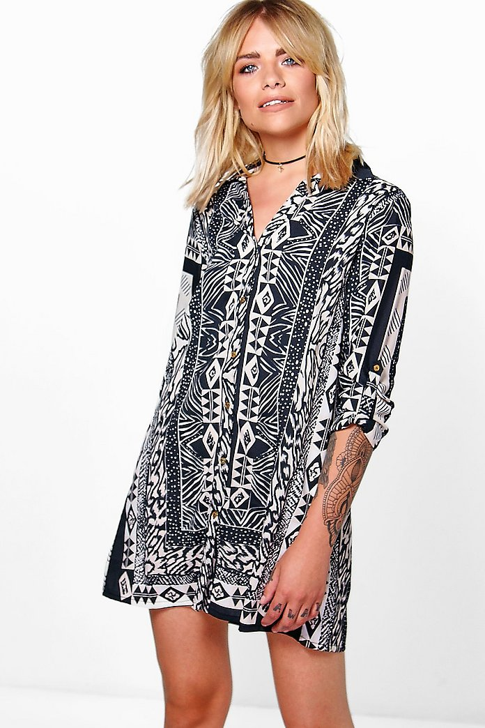 Veronica Mono Shirt Dress