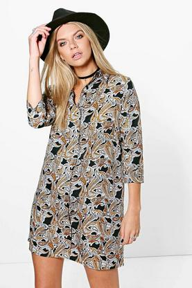 Bernadette Paisley Shirt Dress