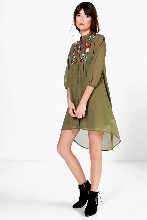 Yasmin Embroidered Shirt Dress