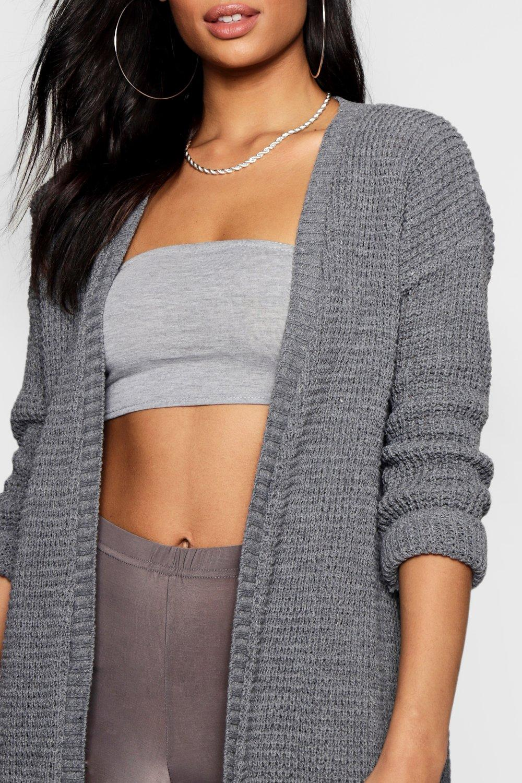 Boohoo Womens Amelia Edge To Edge Waffle Knit Cardigan eBay