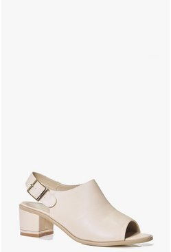 Rachel Peeptoe Low Heel Shoe