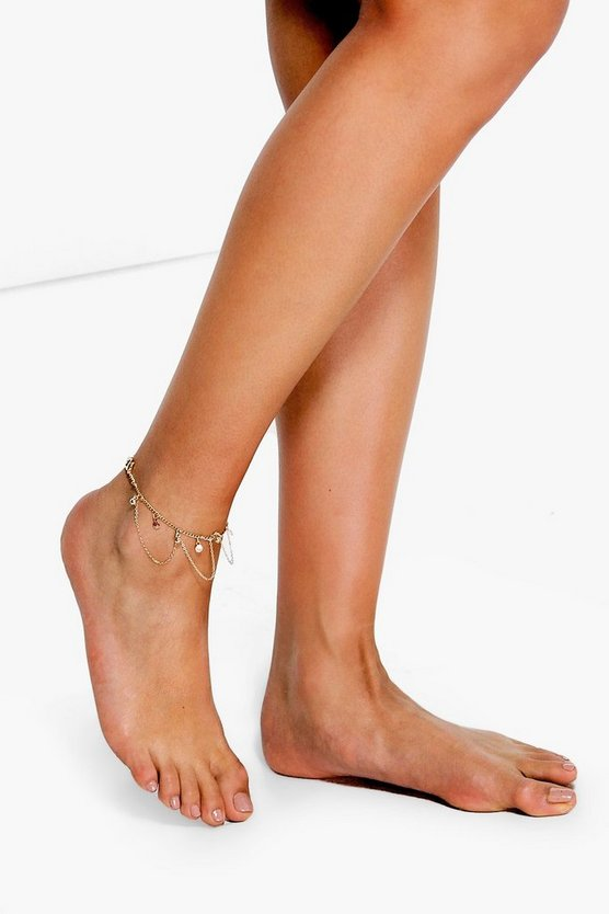 Anya Ball And Chain Layered Anklet