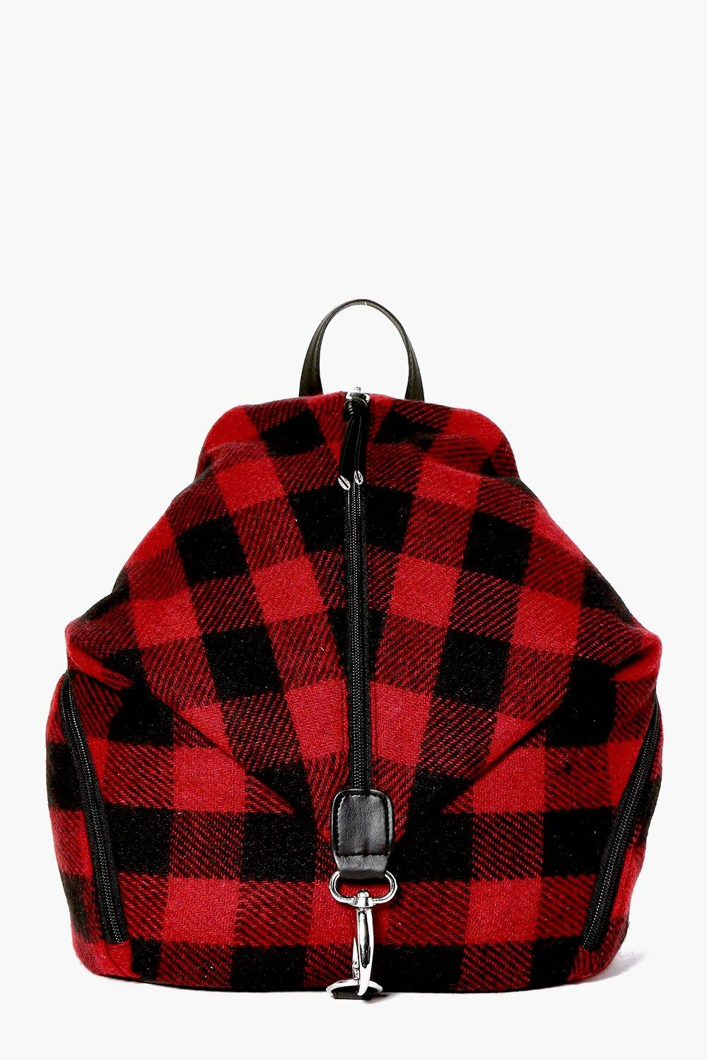 Rebecca Red Check Backpack