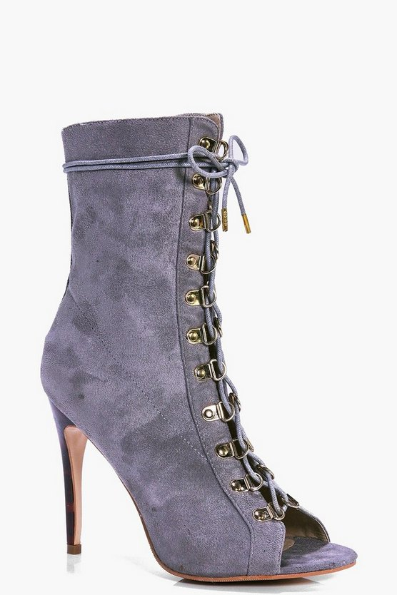 Abbie High Ankle Lace Up Shoe Boot