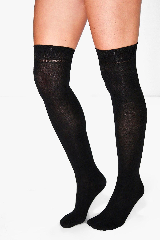 Over Knee High Socks 2 Pack black
