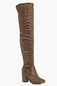 Lilly Block Heel Over The Knee Boot