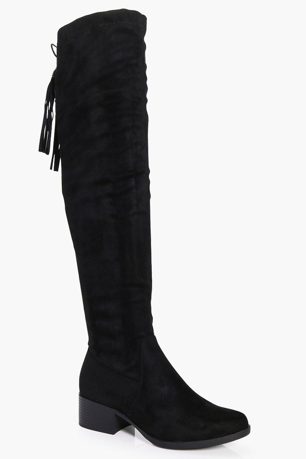 Natasha Back Lace Over The Knee Boot