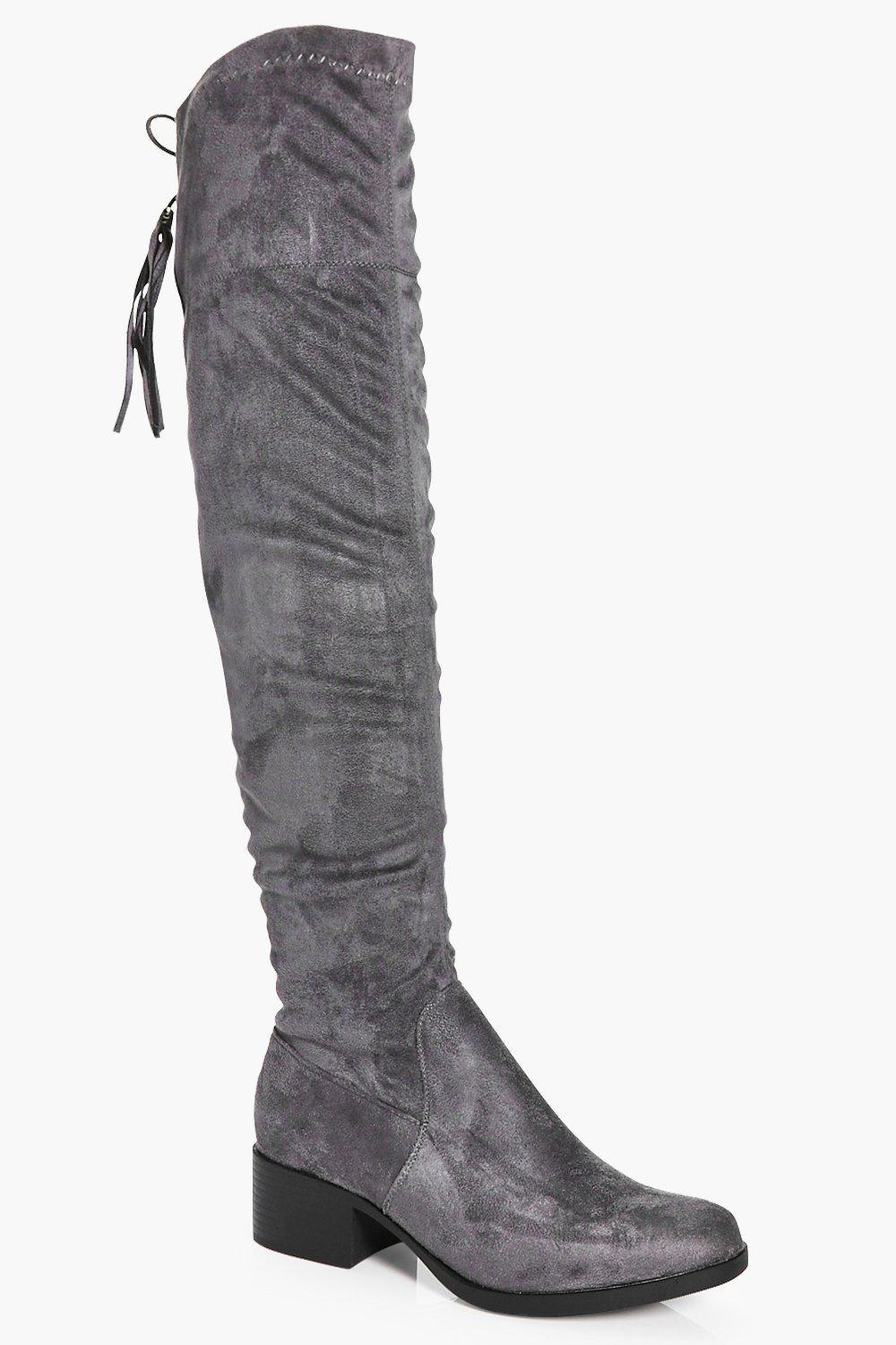 Annie Back Lace Over The Knee Boot