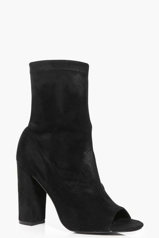 Faye Peeptoe Block Heel Shoe Boot