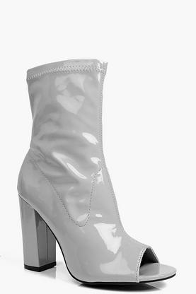 Tegan Peeptoe Block Heel Shoe Boot