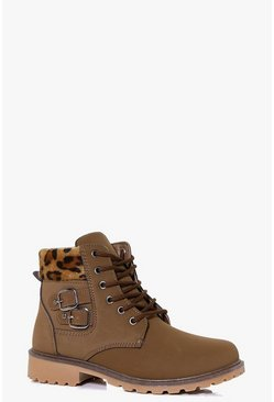 Ella Chunky Hiker Boot With Buckle