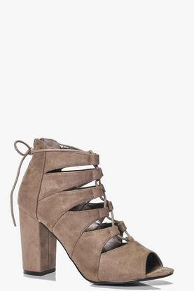 Charlotte Lace Up Block Heel Boot