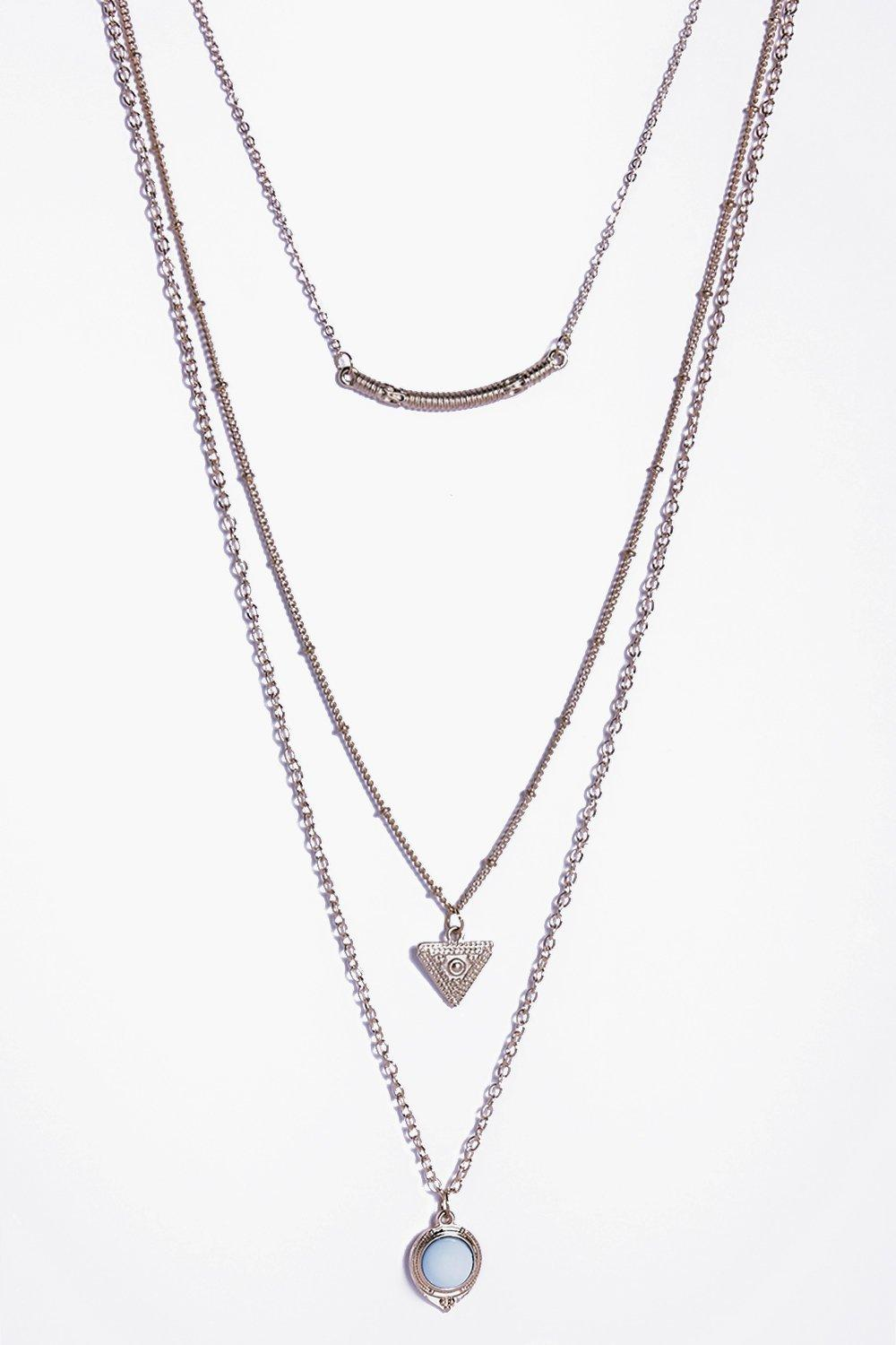 Mai Heart And Stone Layered Necklace