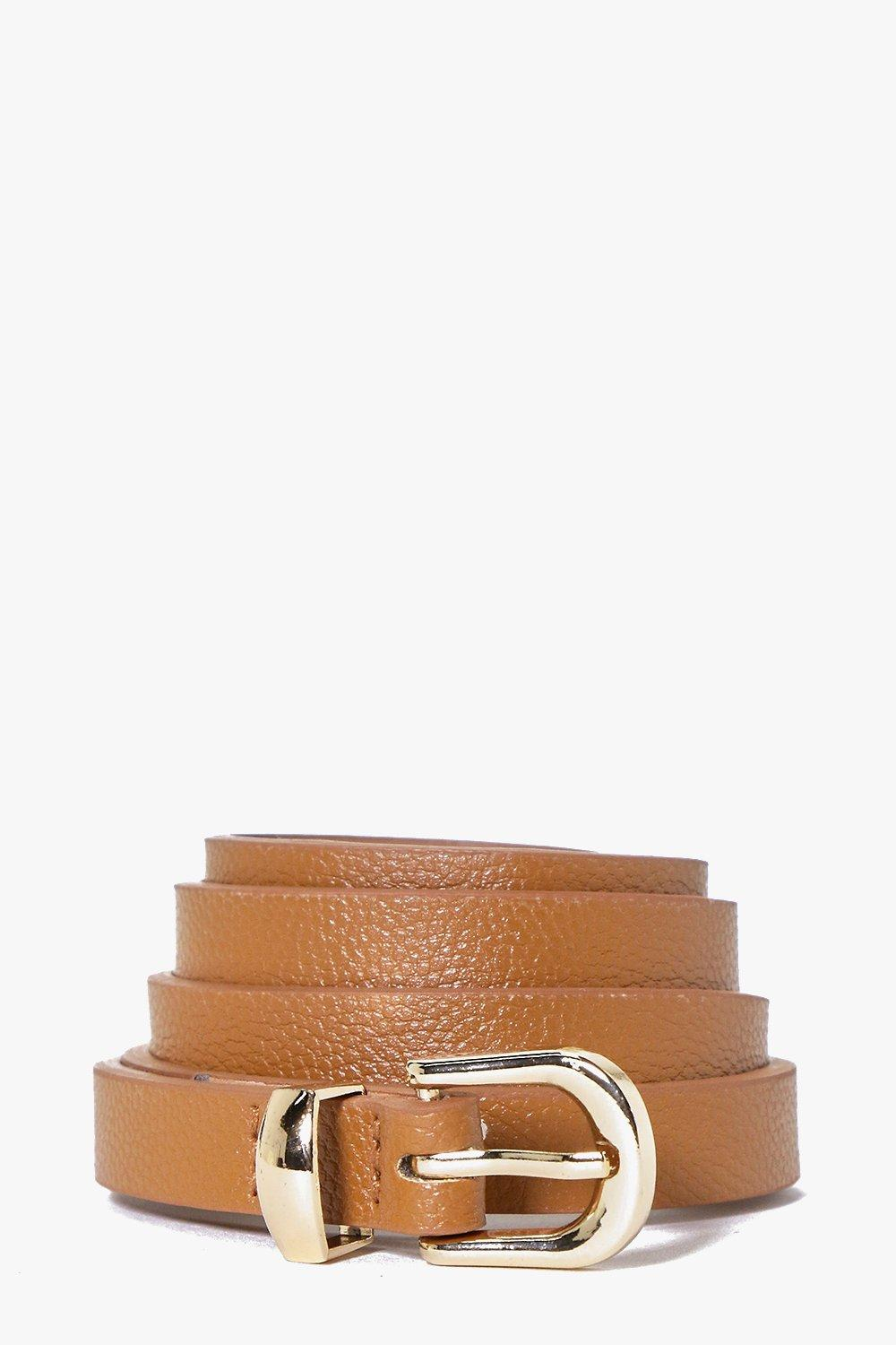 Skinny Belt - tan - Customise your outfit with a b