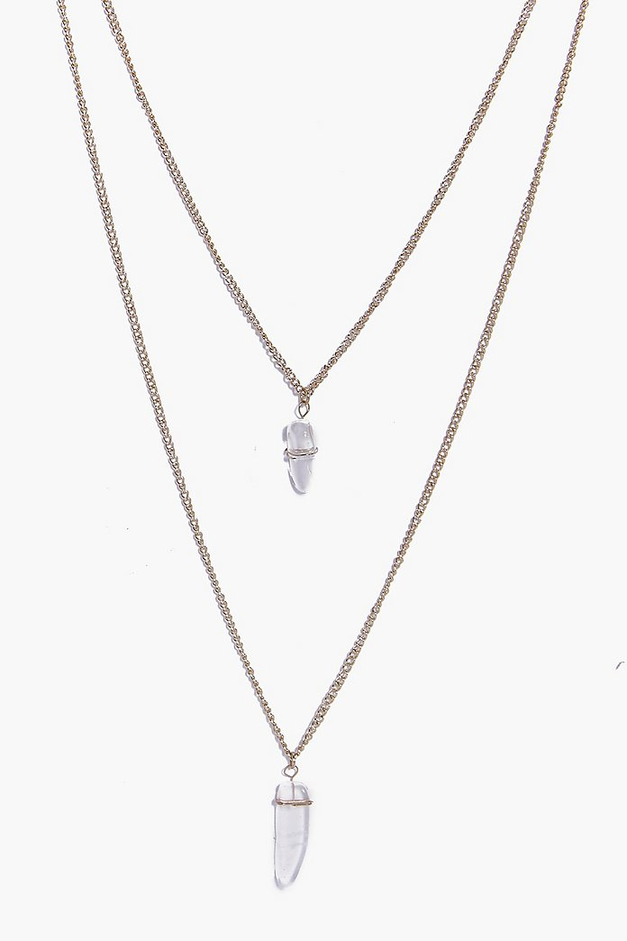 Emily Crystal Pendant Layered Necklace