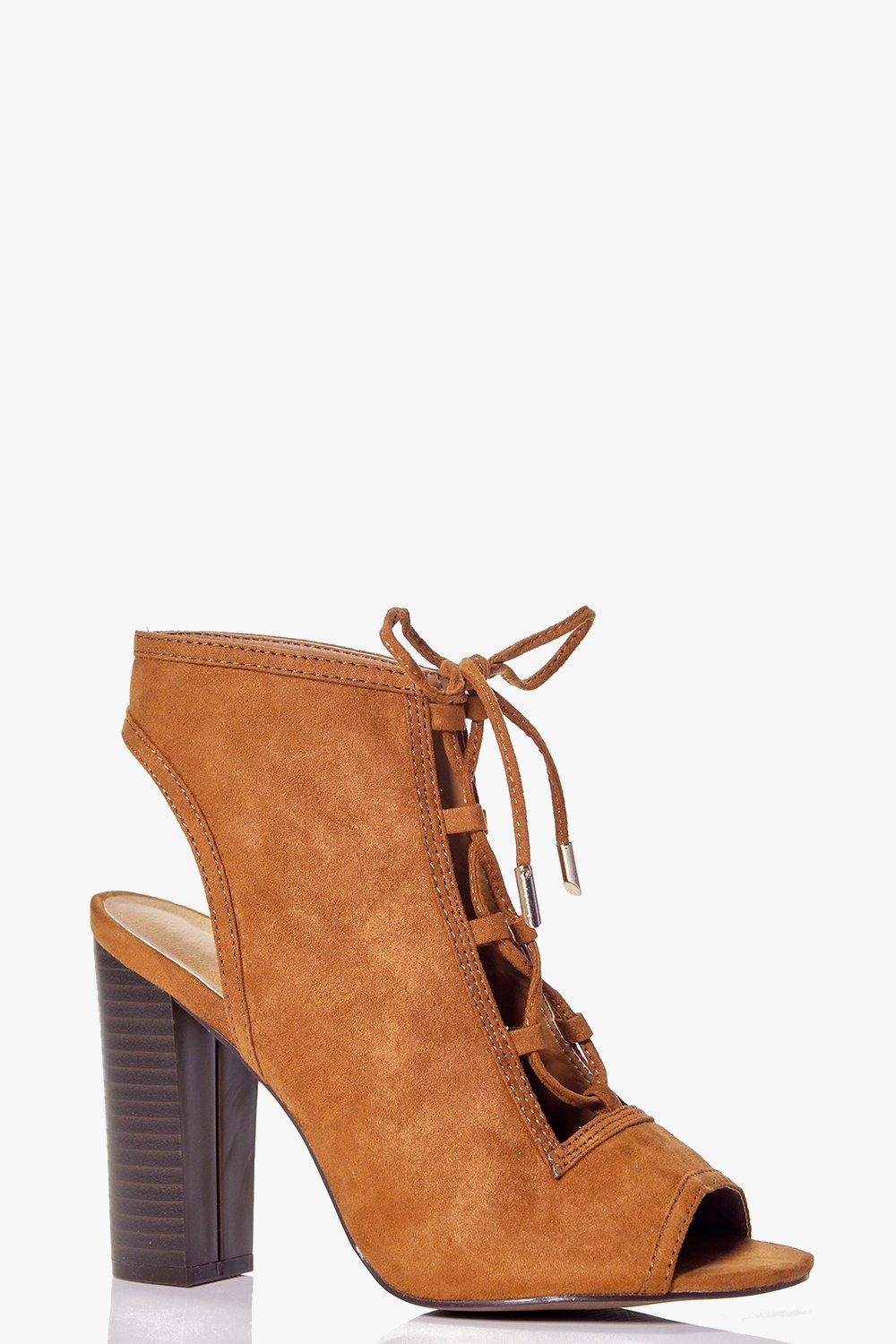 Skye Lace Up Peeptoe Shoe Boot
