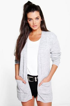 Sara Slouchy Boyfriend Cardigan With Pockets