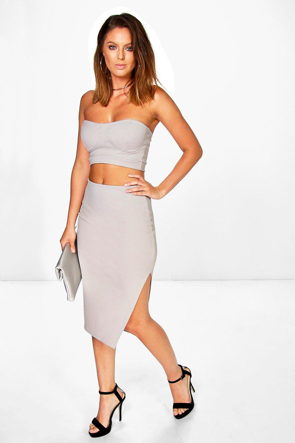 Lara Bandeau Bralet and Midi Skirt Co-Ord Set