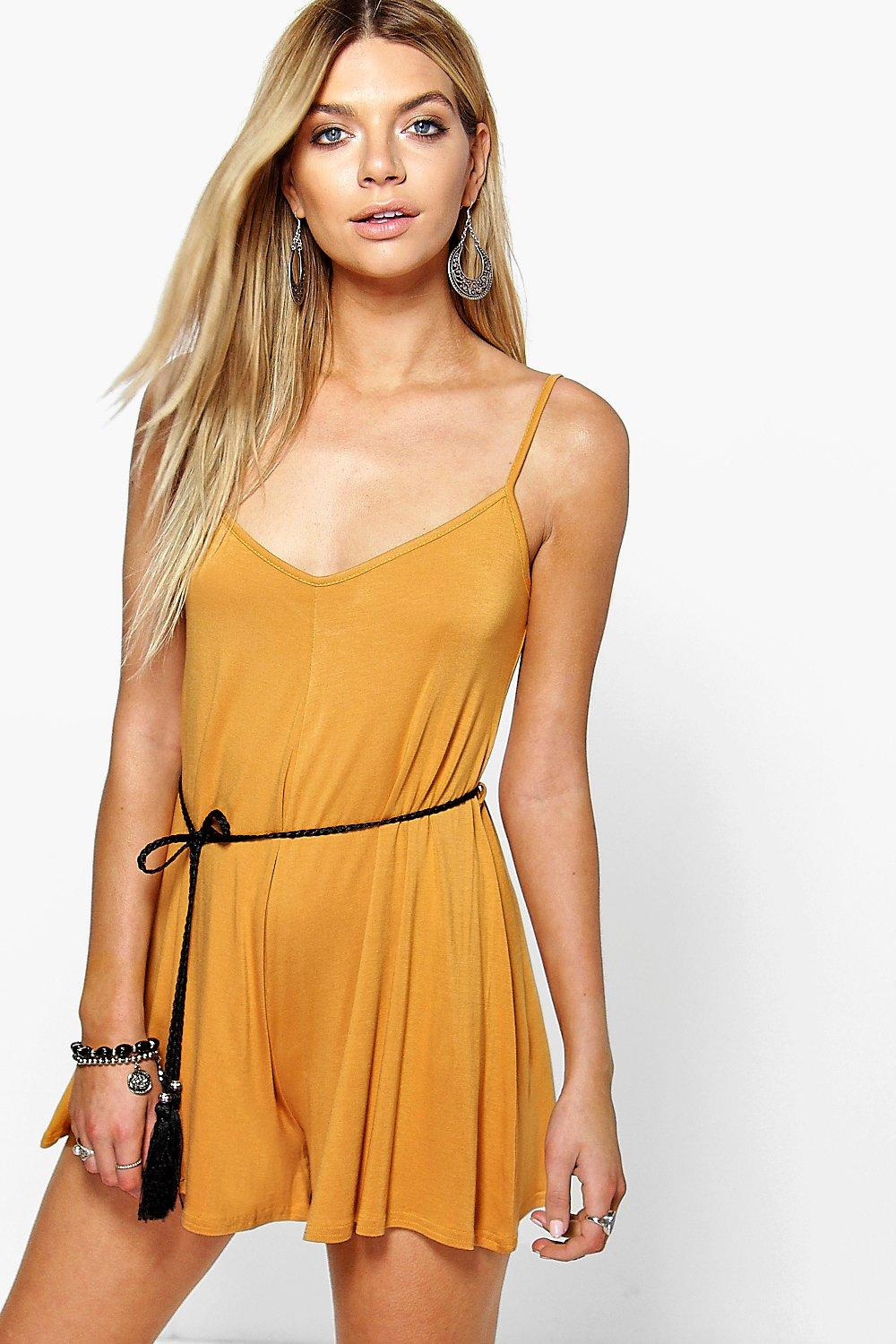 Amy Tassel Belt Swing Playsuit
