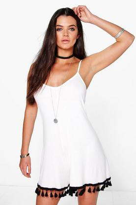 Lola Tassel Trim Swing Playsuit
