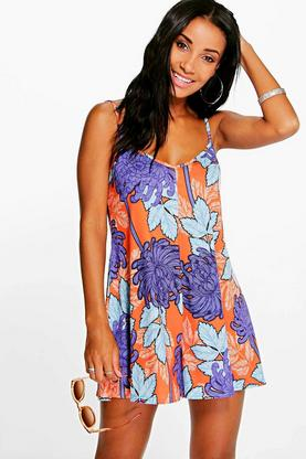 Jen Large Floral Print Swing Playsuit