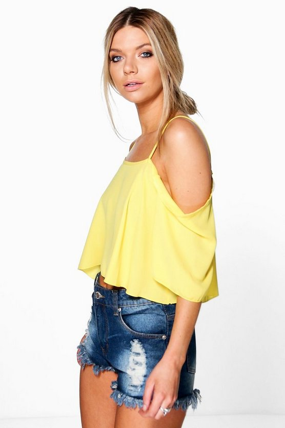 Madison Cold Shoulder Crop Cami
