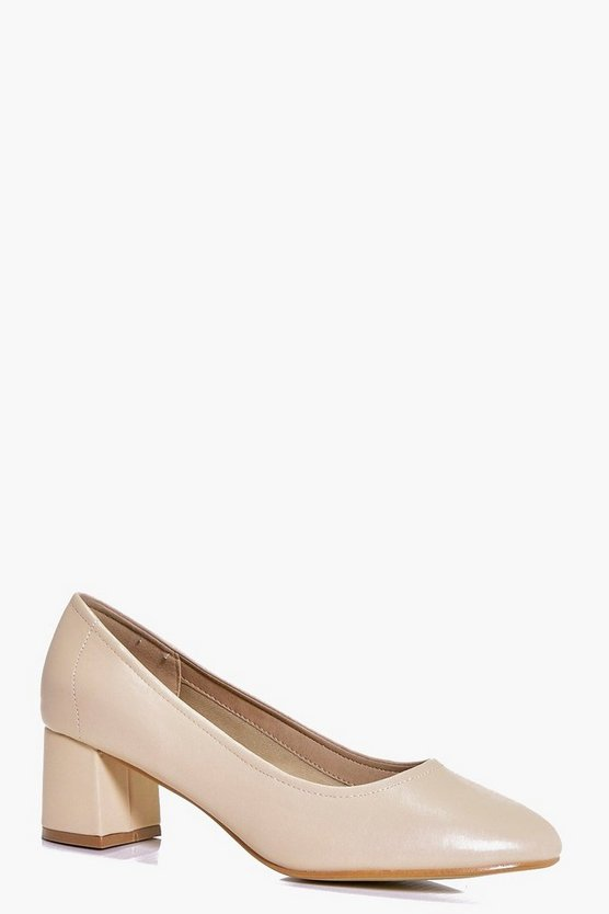 Tilly High Vamp Block Heel Ballet