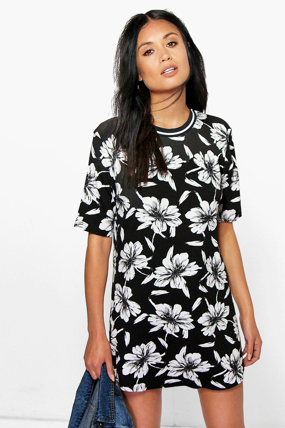 Flossie Floral Sport Trim Shift Dress