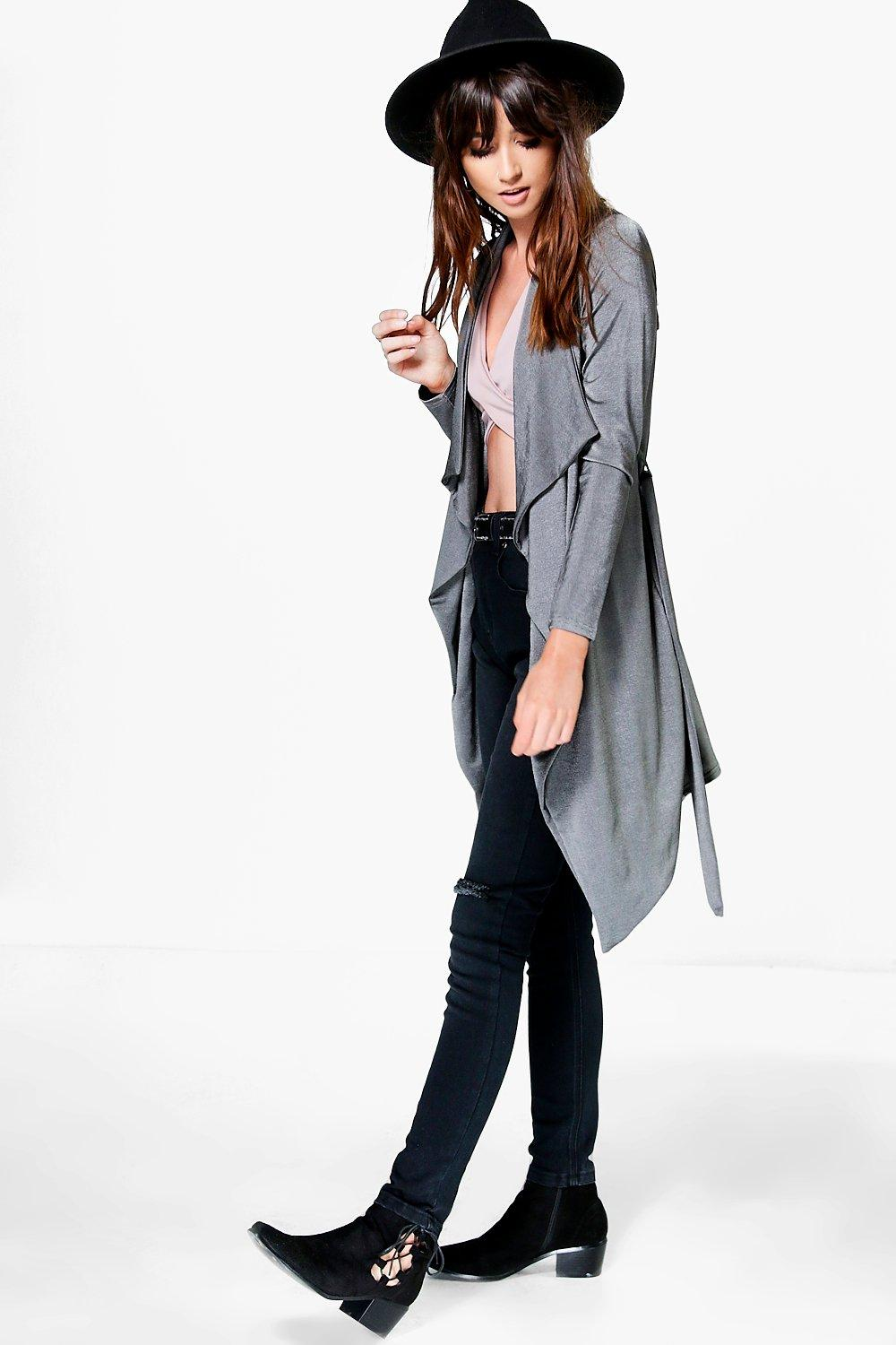 Slinky Waterfall Duster grey