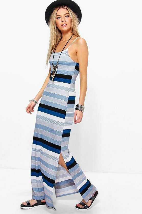 Astrid Striped Strappy Maxi Dress