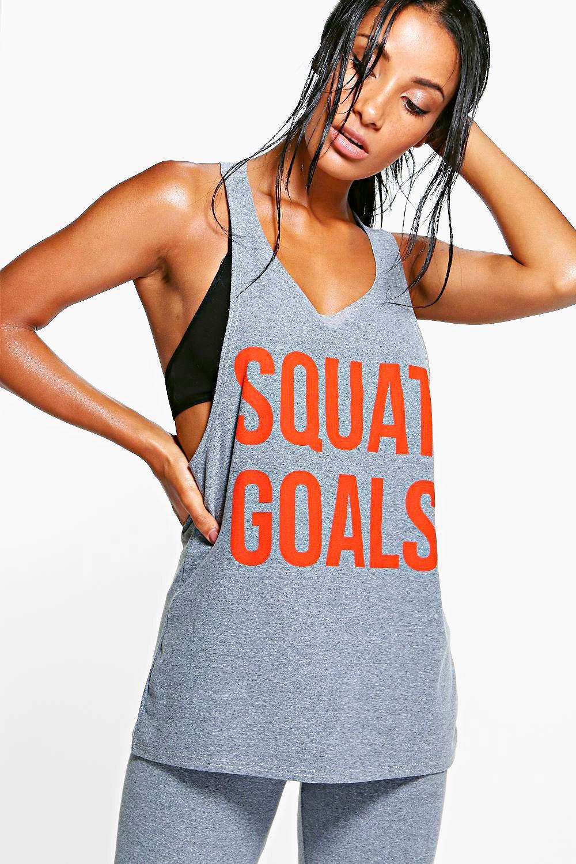 Squat Goals Running Vest grey
