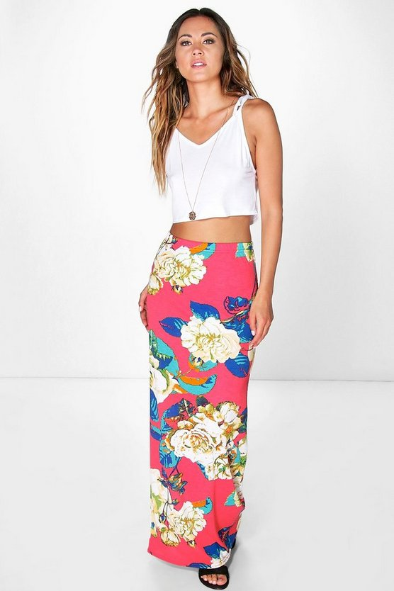 Annabelle Large Floral Maxi Skirt