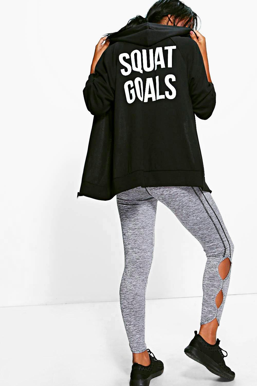Squat Goals Hoodie black