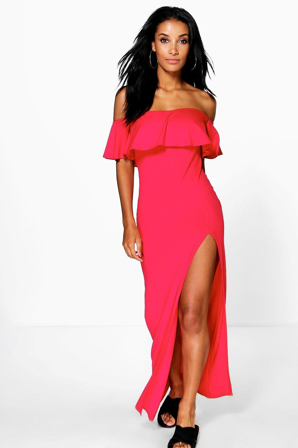 Lola Ruffle Split Side Maxi Dress