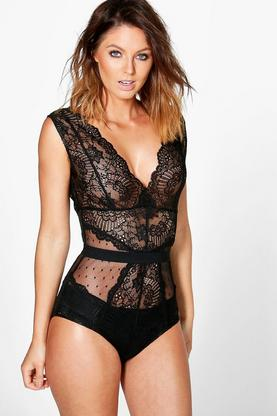 Sally Boutique Lace Bodysuit
