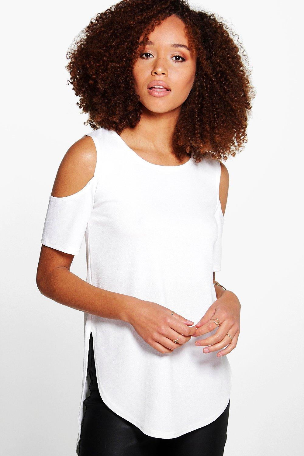 Faith Cold Shoulder Crepe Top