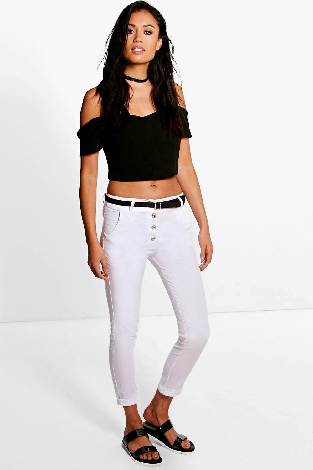 Alegra Super Stretch Skinny Trousers With Belt