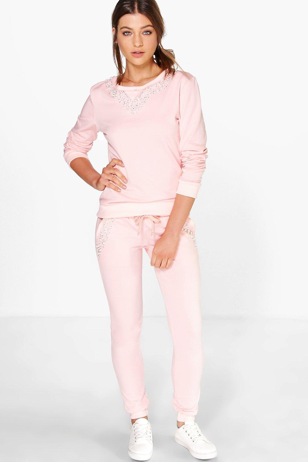 Boutique Freya Pearl Knitted Loungewear Set