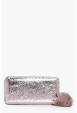 Ava Metallic Pom Detail Purse