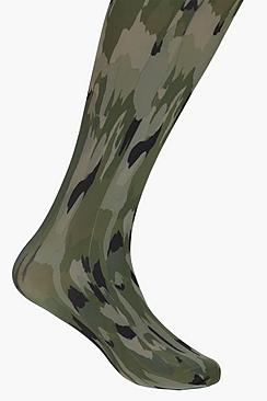 Vanessa Camo Print Tights