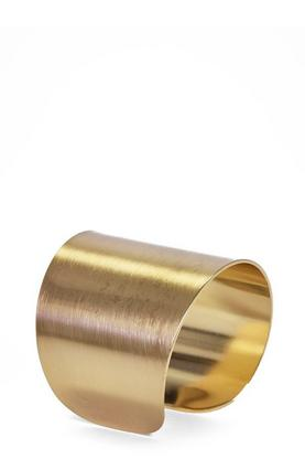 Edith Flat Brushed Metal Bracelet Cuff