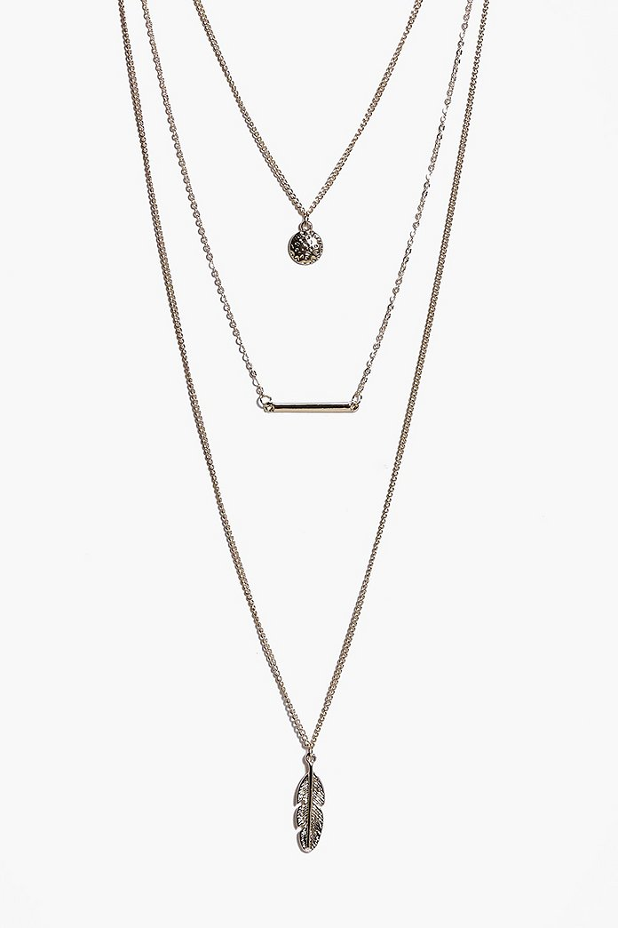 Lena Choker Pendant Skinny Layered Necklace
