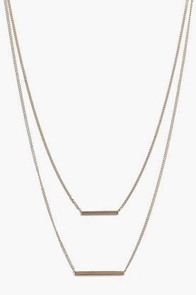 Ava Skinny Horizontal Bars Layered Necklace