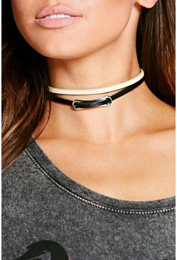 Rose Metal Plate Choker 2 Pack