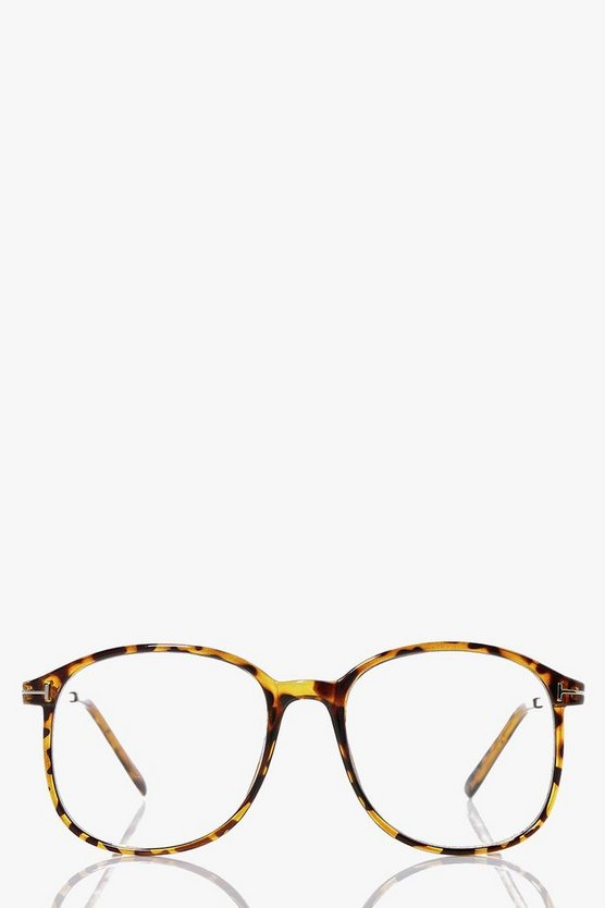 Leila Oversized Tortoise Frame Geek Glasses