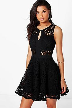 Boutique Jasmine Crochet Dress
