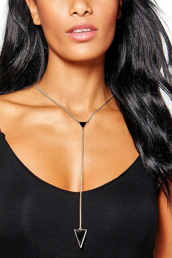 Zoe Triangle Deep Plunge Skinny Necklace